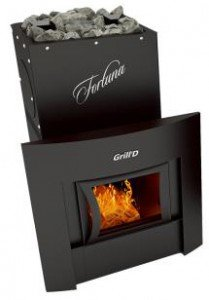 Печь для бани Grill'D Fortuna 200 window black